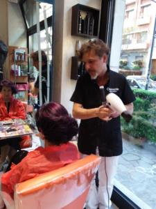 Foto capelli viola Clemente parrucchiere milano